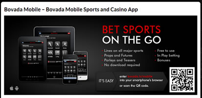 Bovada Offers Mobile Sports Betting
