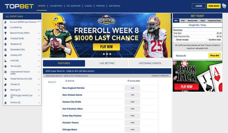 Topbet Homepage